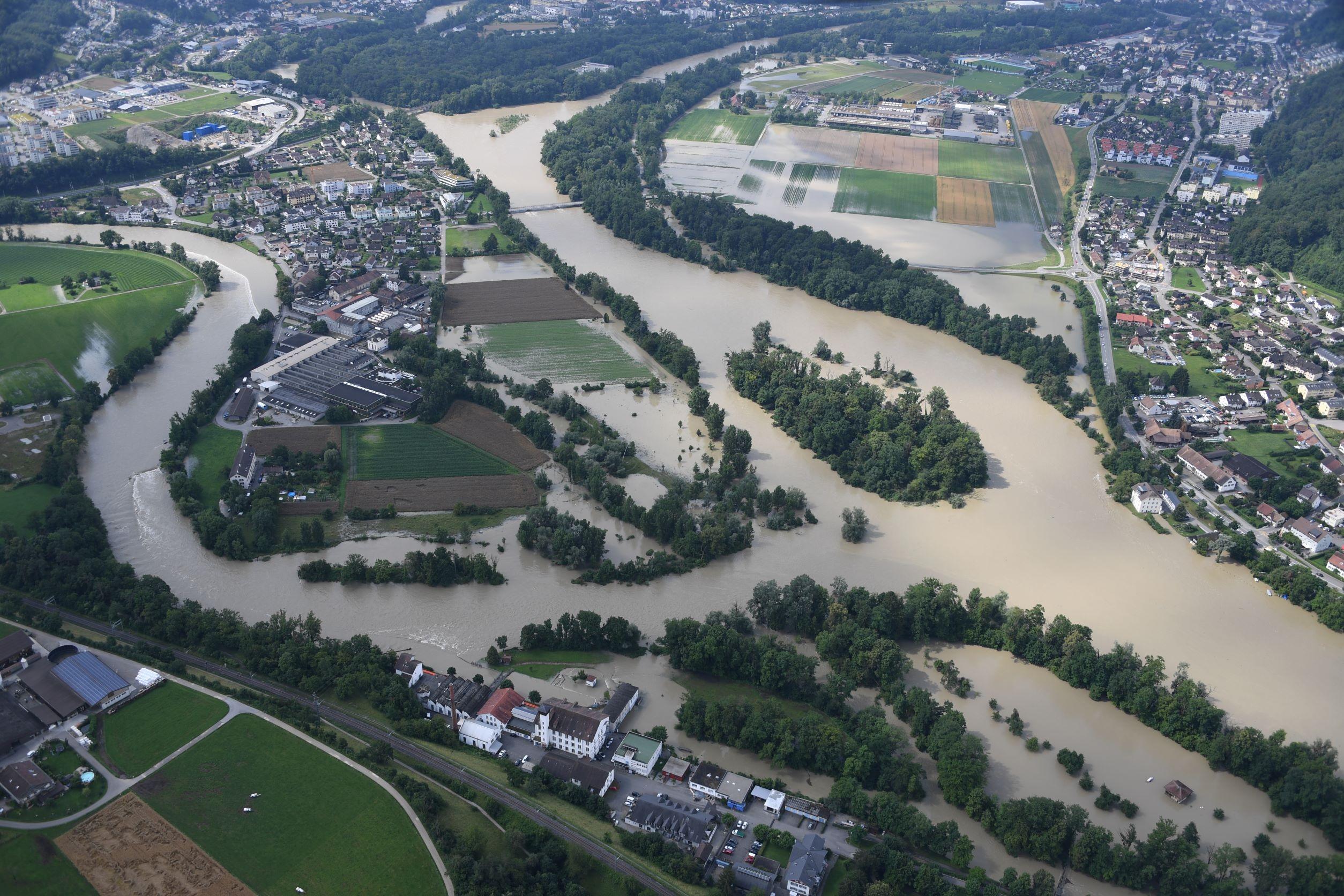 Hochwasser im Aargau Vorher Nachher Vergleiche in Bildern